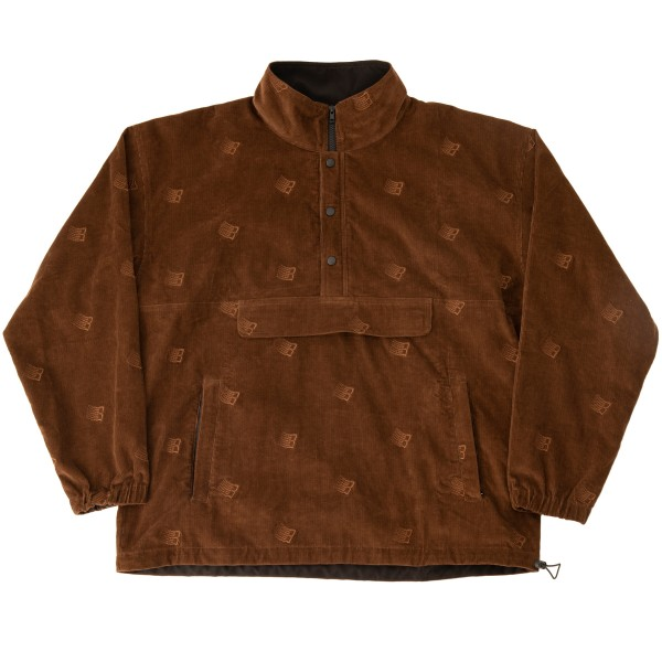 Bronze 56K All Over Embroidered Anorak (Brown)