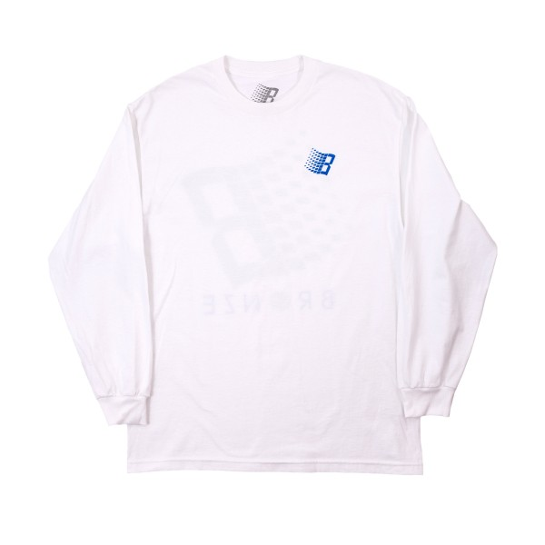 Bronze 56k B Logo Long Sleeve T-Shirt (White/Tennis)