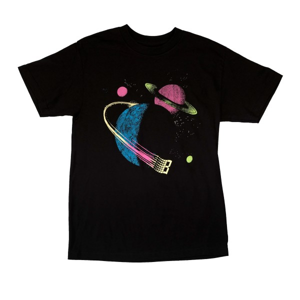 Bronze 56k Galaxy T-Shirt (Black/Glow in the Dark)