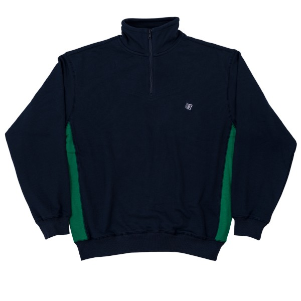 Bronze 56k Microdose Quarter Zip Mock Neck (Navy/Green)
