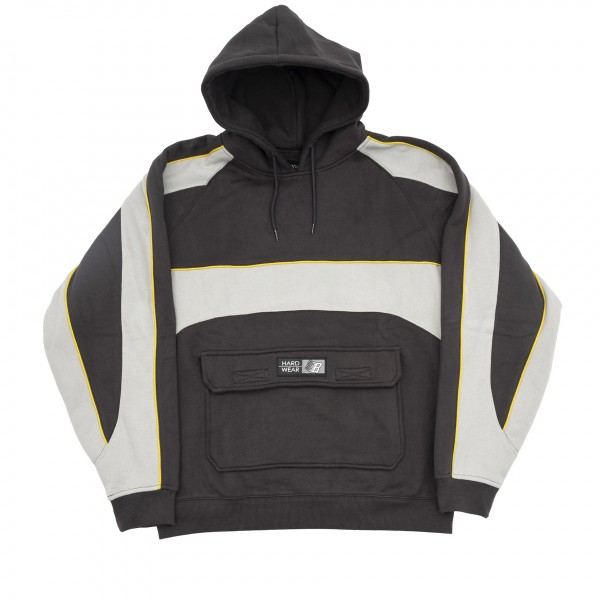 Bronze 56k Piping Pullover Hooded Sweatshirt (Dark Grey)