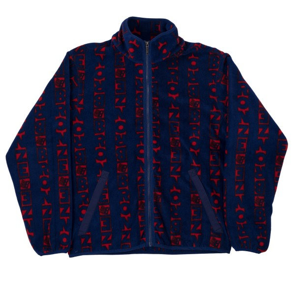 Bronze 56k Vertical Full Zip Fleece (Navy/Red)