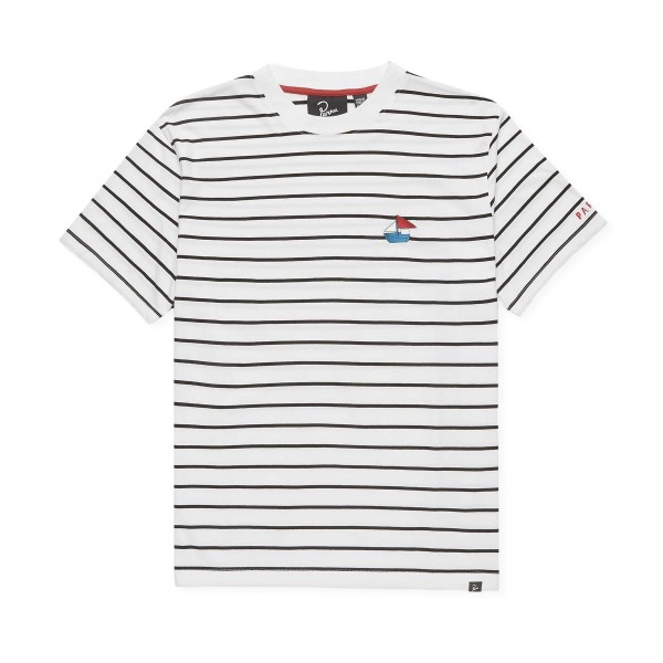 by Parra Paper Boat Striper T-Shirt (White)