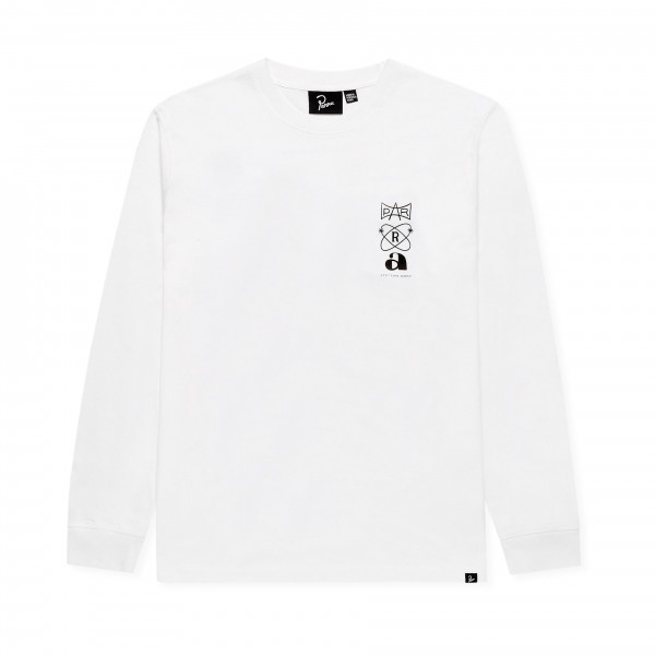 by Parra Rest Day Long Sleeve T-Shirt (White)
