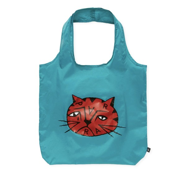 by Parra Sad Cat Tote Bag (Dusty Blue)