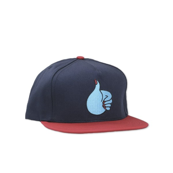 by Parra Thumbs Up Snapback Cap (Navy/Red)
