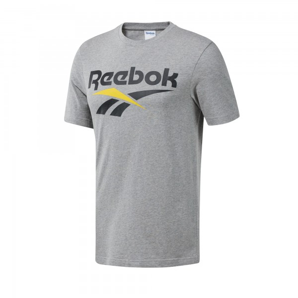 Reebok Classics Vector T-Shirt (Medium Grey Heather/Black)