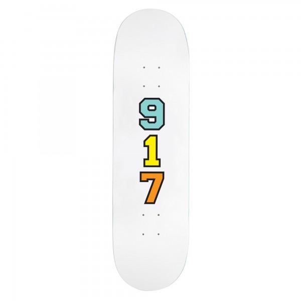 "Call Me 917 Genny's 917 Skateboard Deck 8.25"" (White)"