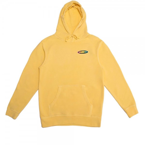 Call Me 917 Racer Pullover Hooded Sweatshirt (Washed Yellow)