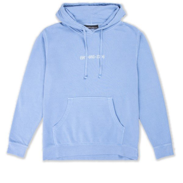Call Me 917 Small Dialtone Pullover Hooded Sweatshirt (Pigment Dyed Blue)