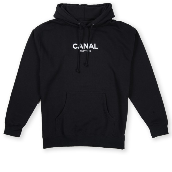 Canal Classic Logo Pullover Hooded Sweatshirt (Black)