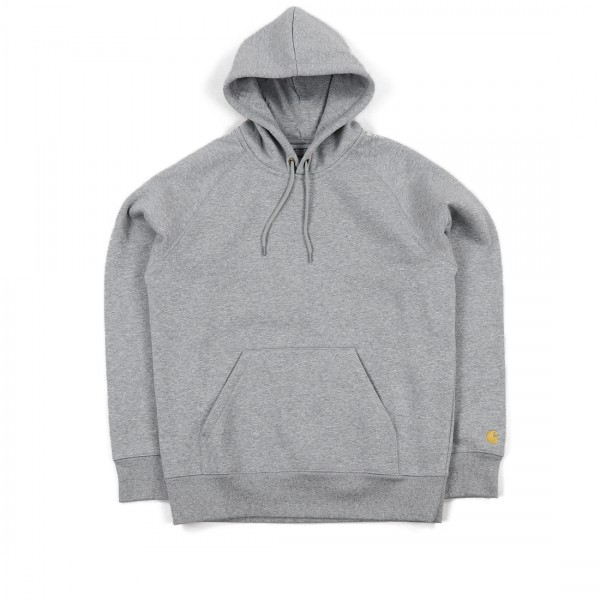 Carhartt Chase Pullover Hooded Sweatshirt (Grey Heather/Gold)