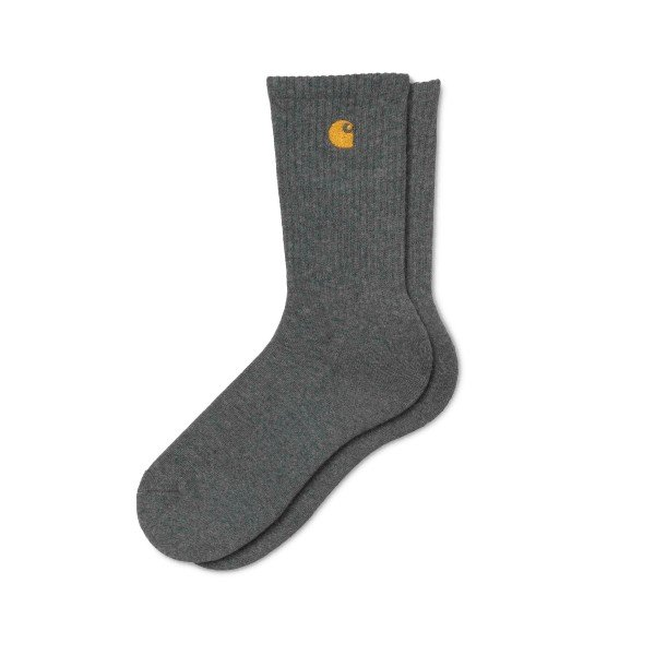 Carhartt Chase Socks (Dark Grey Heather/Gold)