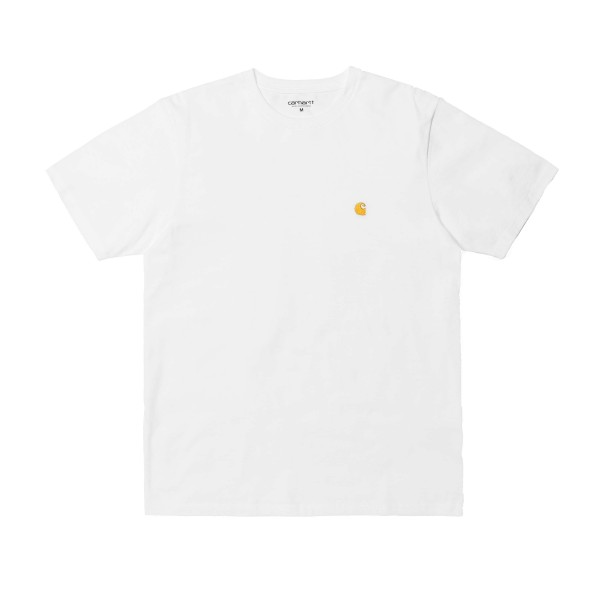 Carhartt WIP Chase T-Shirt (White/Gold)