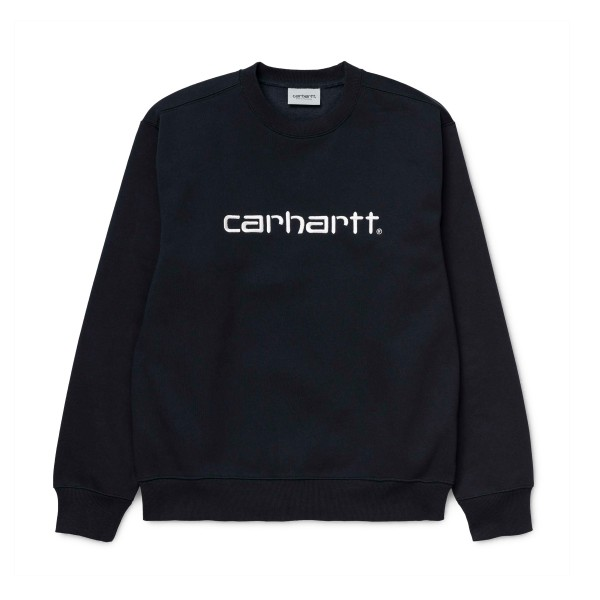 Carhartt Crew Neck Sweatshirt (Dark Navy/White)