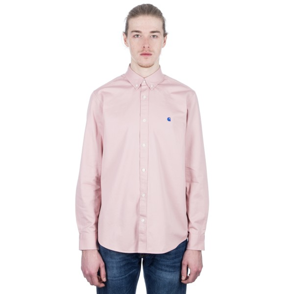 Carhartt Madison Long Sleeve Shirt (Soft Rose/Sapphire)