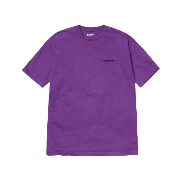 Carhartt Script Embroidery T-Shirt (Frosted Viola/Black)