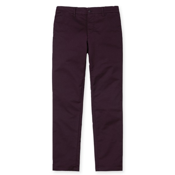 Carhartt Sid Twill Pant (Wine Light Stone Washed)