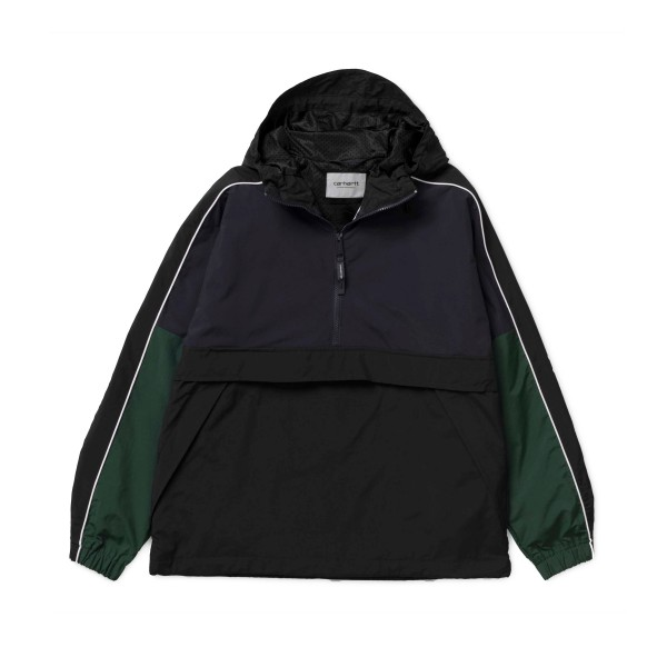 Carhartt Terrace Pullover Half Zip Jacket (Dark Navy/Black/Bottle Green)