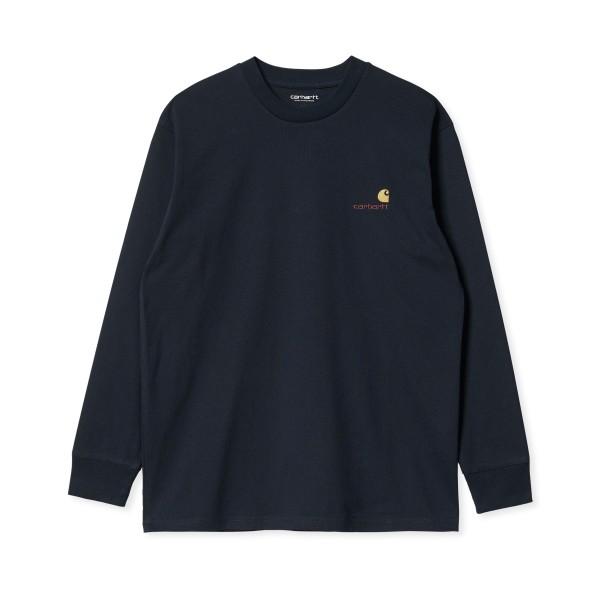 Carhartt WIP American Script Long Sleeve T-Shirt (Astro)