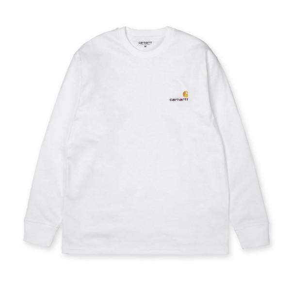 Carhartt WIP American Script Long Sleeve T-Shirt (White)