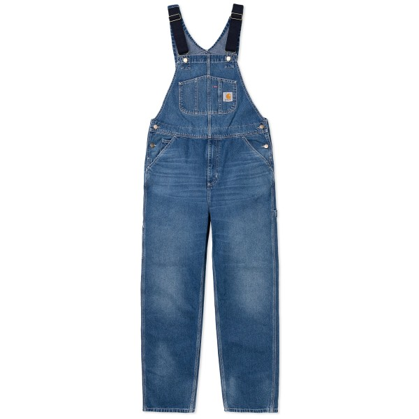 Carhartt WIP Bib Overall (Blue Mid Used Wash Denim)