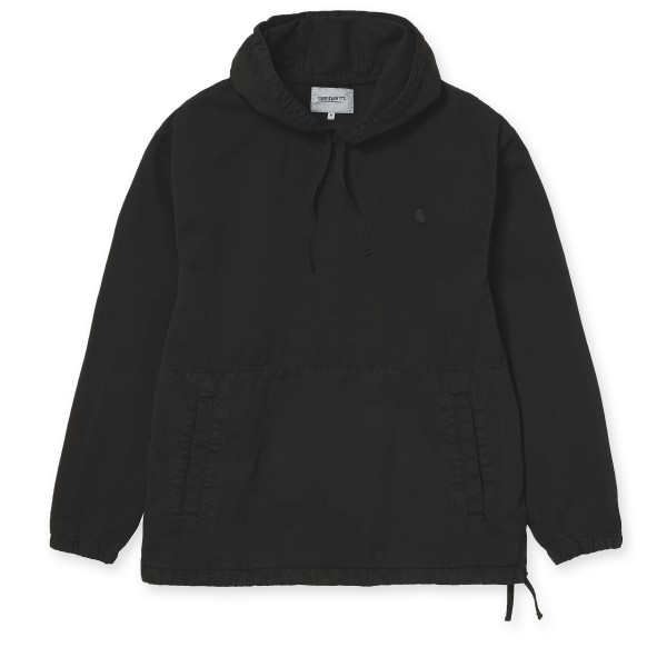 Carhartt WIP Carson Pullover Hooded Sweatshirt (Black Stone Washed)