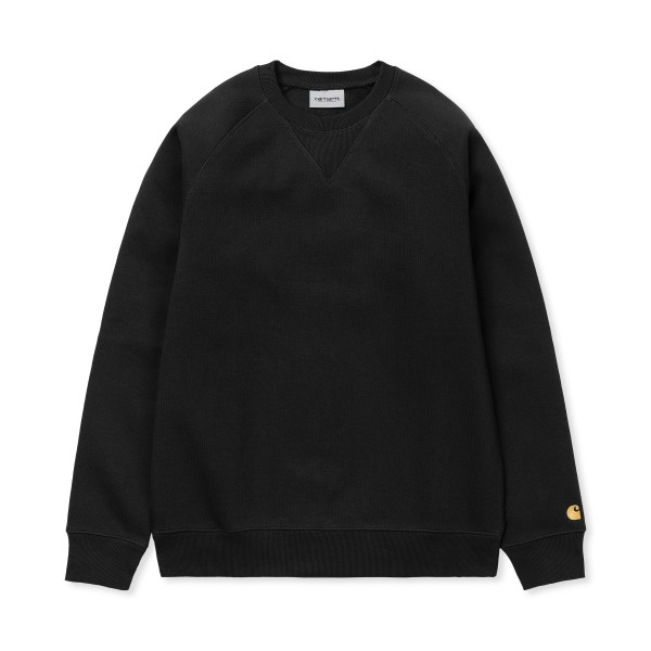 Carhartt WIP Chase Crew Neck Sweatshirt (Black/Gold)