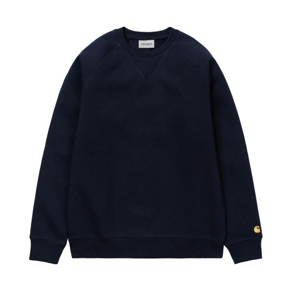 Carhartt WIP Chase Crew Neck Sweatshirt (Dark Navy/Gold)