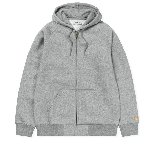 Carhartt WIP Chase Hooded Jacket (Grey Heather/Gold)