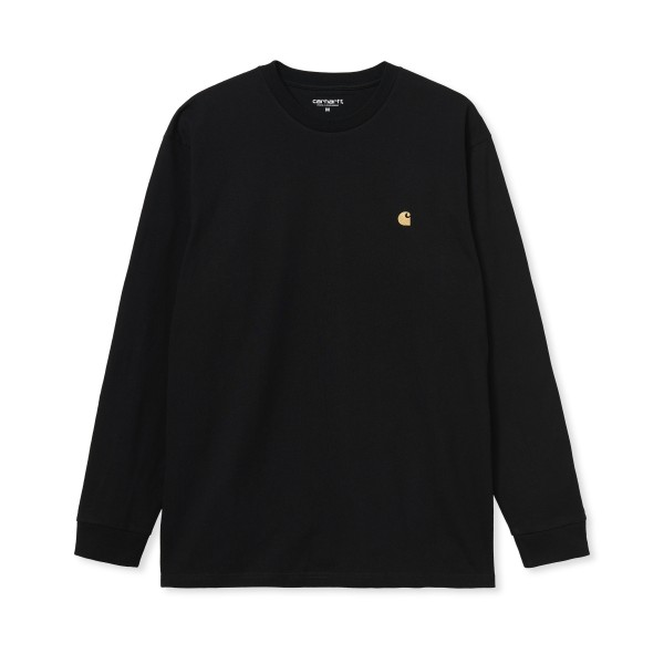 Carhartt WIP Chase Long Sleeve T-Shirt (Black/Gold)