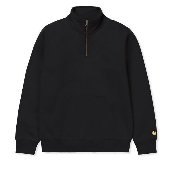 Carhartt WIP Chase Neck Zip Sweatshirt (Black/Gold)