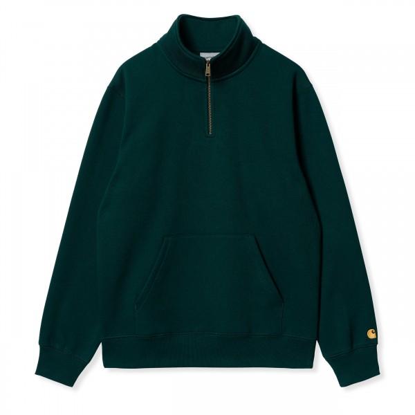 Carhartt WIP Chase Neck Zip Sweatshirt (Fraiser/Gold)