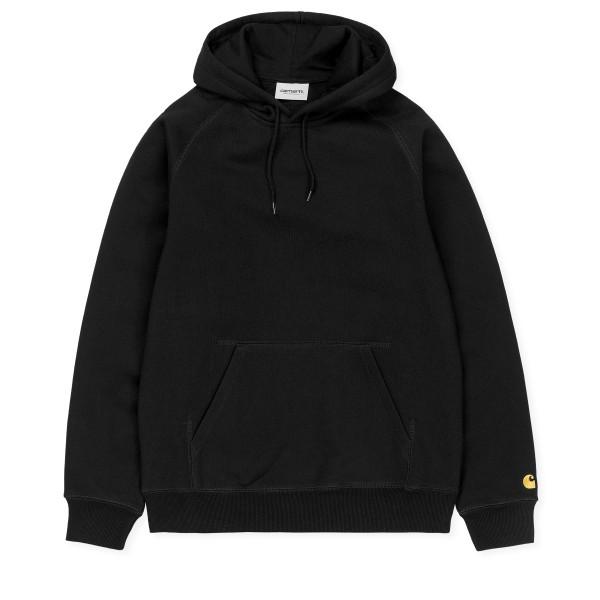 Carhartt WIP Chase Pullover Hooded Sweatshirt (Black/Gold)