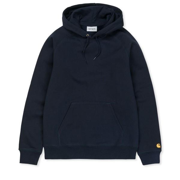 Carhartt WIP Chase Pullover Hooded Sweatshirt (Dark Navy/Gold)