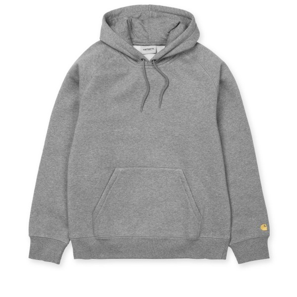 Carhartt WIP Chase Pullover Hooded Sweatshirt (Grey Heather/Gold)