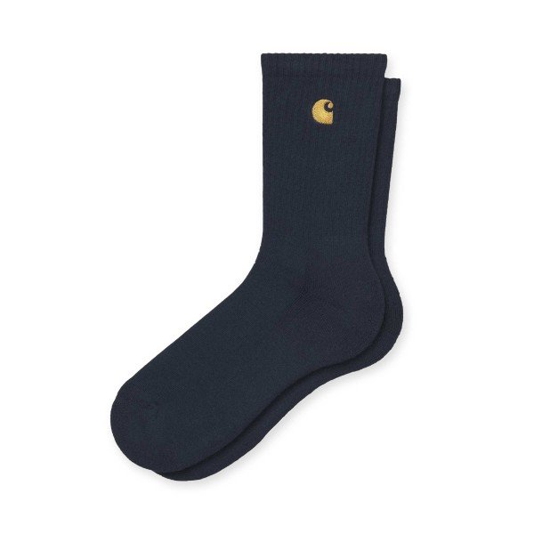 Carhartt WIP Chase Socks (Dark Navy/Gold)