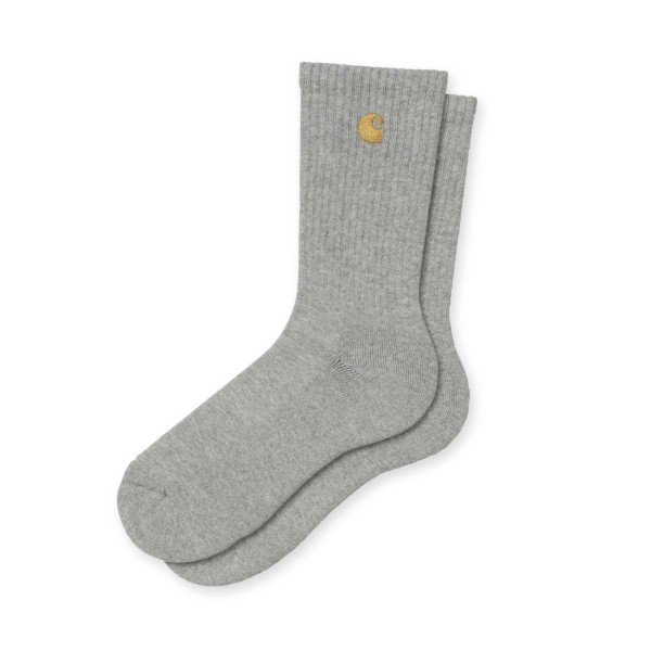 Carhartt WIP Chase Socks (Grey Heather/Gold)