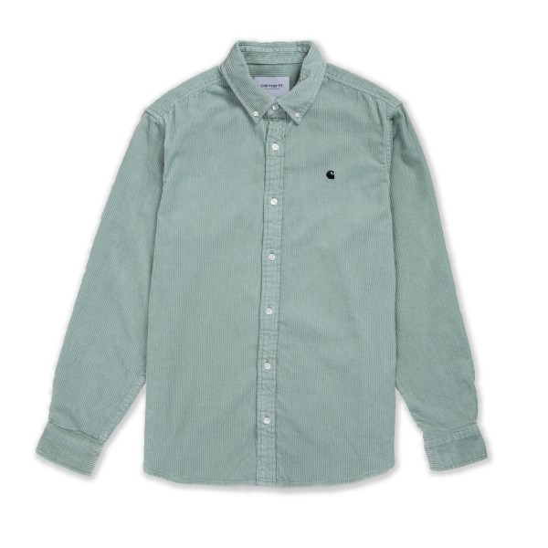 Carhartt WIP Madison Corduroy Long Sleeve Shirt (Frosted Green/Black)