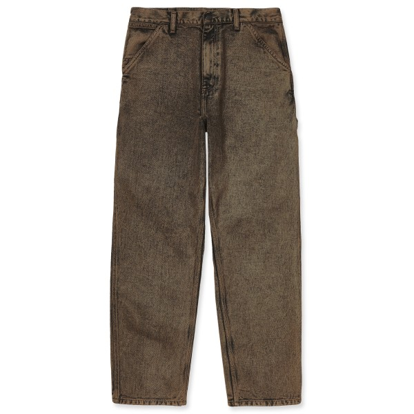 Carhartt WIP Single Knee Pant (Rum Denim Crater Wash)