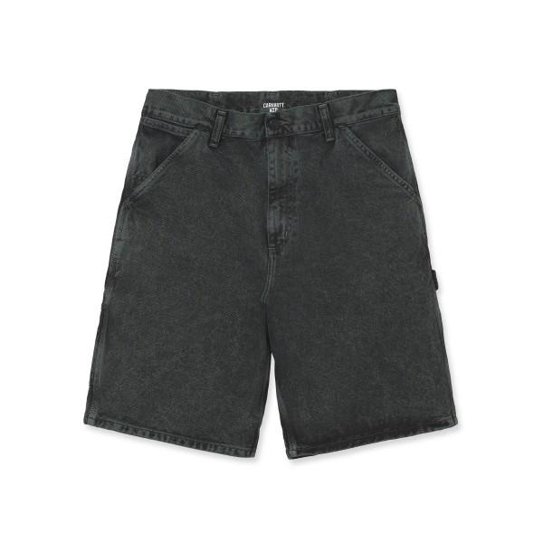 Carhartt WIP Single Knee Short (Deep Lagoon Denim Crater Wash)