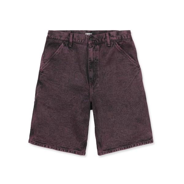 Carhartt WIP Single Knee Short (Shiraz Denim Crater Wash)