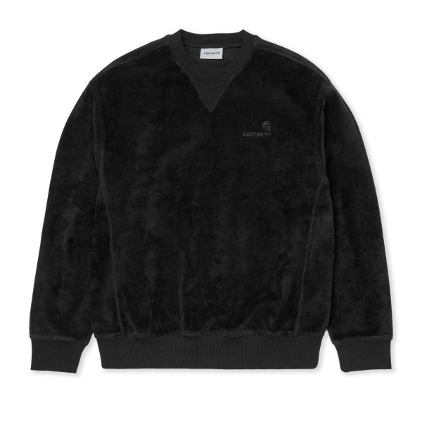 Carhartt WIP United Script Crew Neck Sweatshirt (Black)