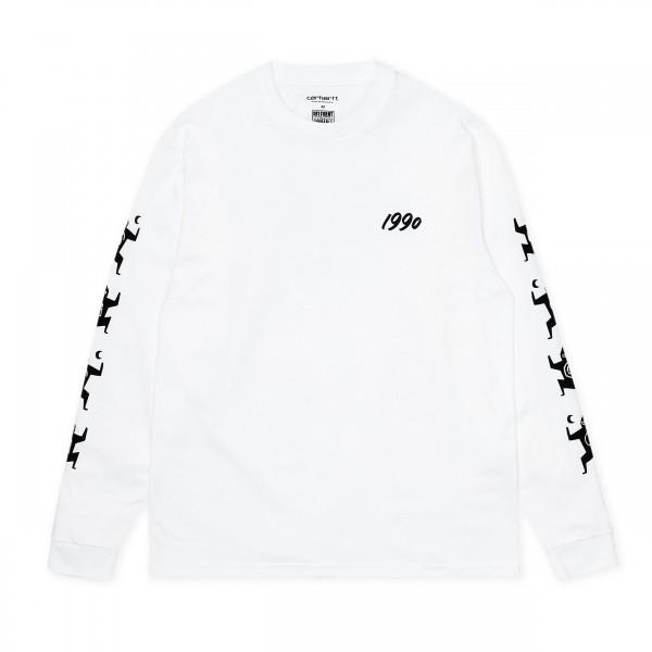 Carhartt WIP x Relevant Parties x Ninja Tune Long Sleeve T-Shirt (White/Black)