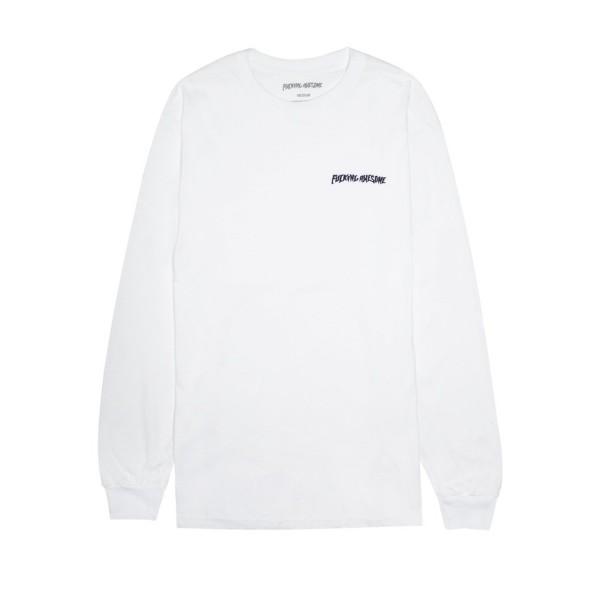 Fucking Awesome World Fucking Long Sleeve T-Shirt (White)