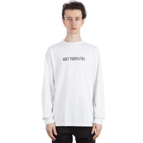 Obey New Times Long Sleeve T-Shirt (White)
