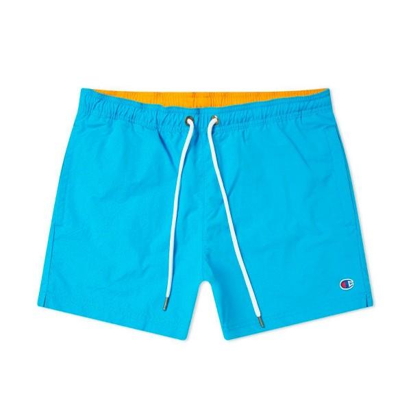 Champion Reverse Weave Beach Short (Light Blue/Orange)