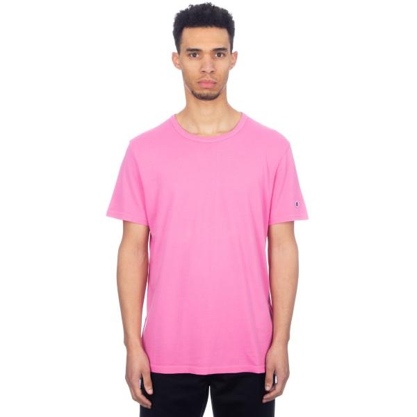 Champion Reverse Weave Crew Neck T-Shirt (Dark Pink)