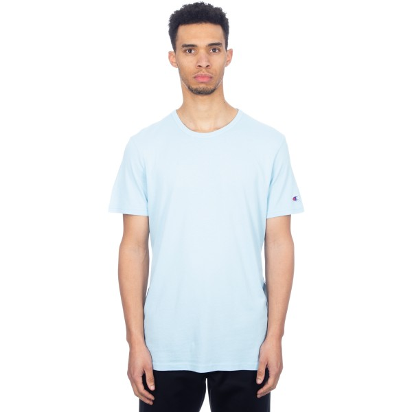 Champion Reverse Weave Crew Neck T-Shirt (Light Blue)