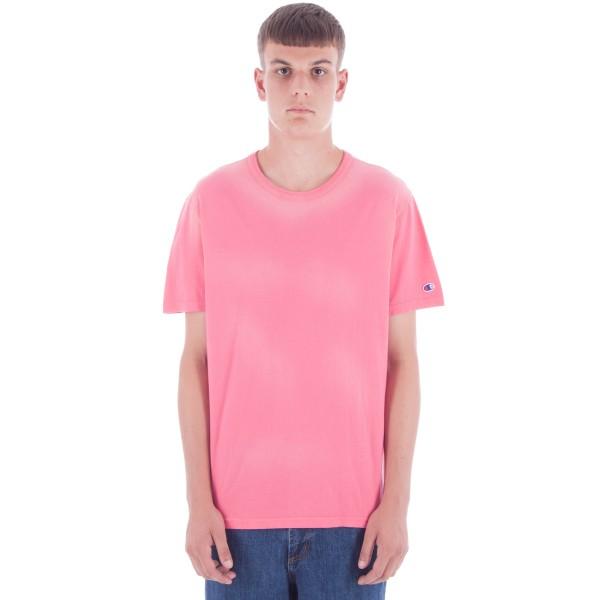 Champion Reverse Weave Crew Neck T-Shirt (Pink)